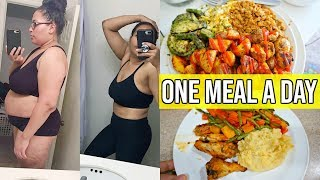 EATING ONE MEAL A DAY (OMAD) FOR A WEEK / INTERMITTENT FASTING FOR WEIGHTLOSS