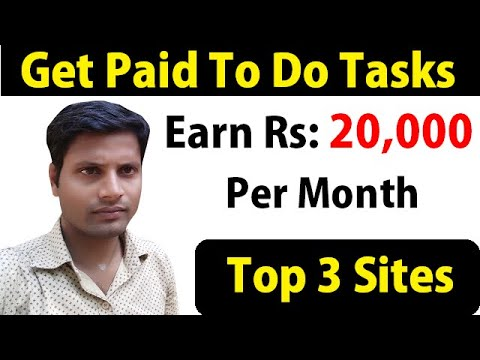 Top 3 Sites To Earn Money Doing Online Tasks | Best Jobs To Work From Home Online [Hindi]
