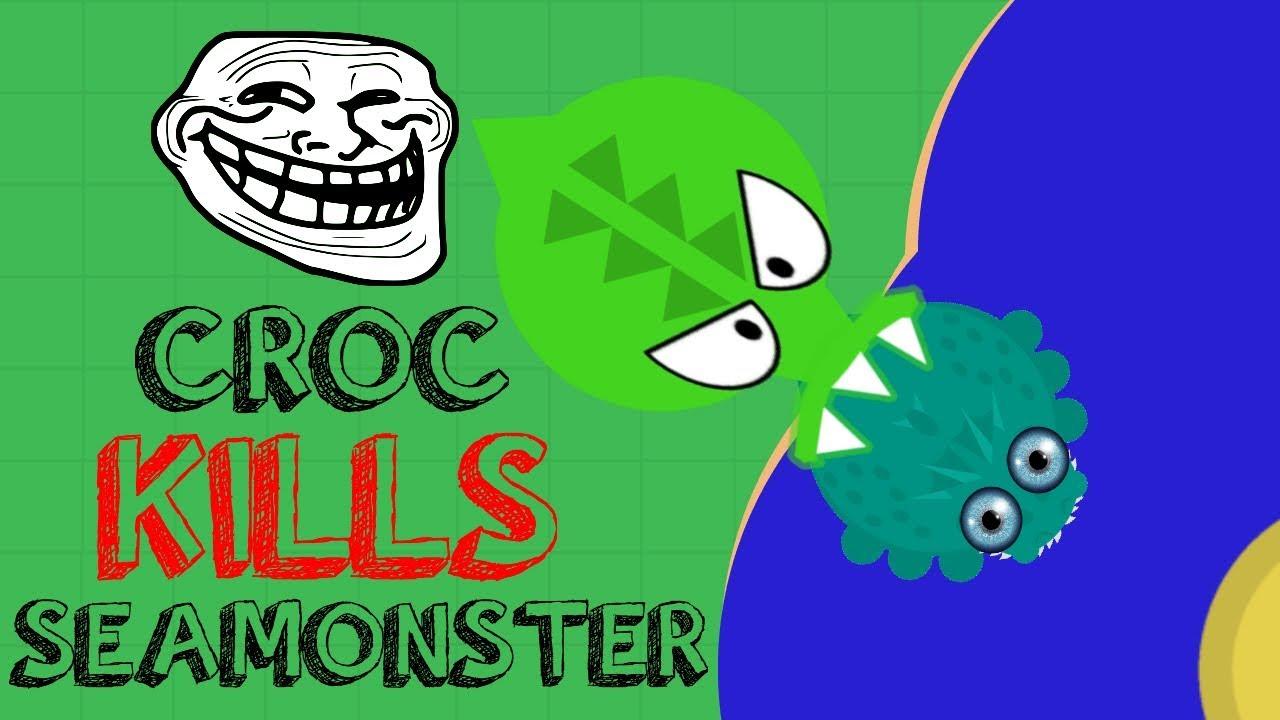Download CROCODILE KILLS SEAMONSTER!! // 1v1ING COMPILATION // MOPE.IO