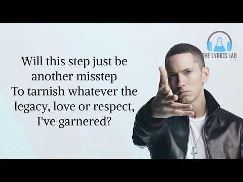 Eminem - Walk On Water Ft Beyonce - Lyrics Video