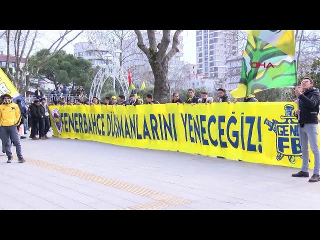 Fenerbahçe taraftarından protesto yürüyüşü