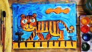 Как рисовать Тигра! Урок рисования для детей от 4 лет, РыбаКит(РыбаКит - Папа рисует: http://www.youtube.com/ribakit3 Я папа и я рисую и раскрашиваю. Предлагаю посетить мои маленькие..., 2015-12-10T09:33:43.000Z)