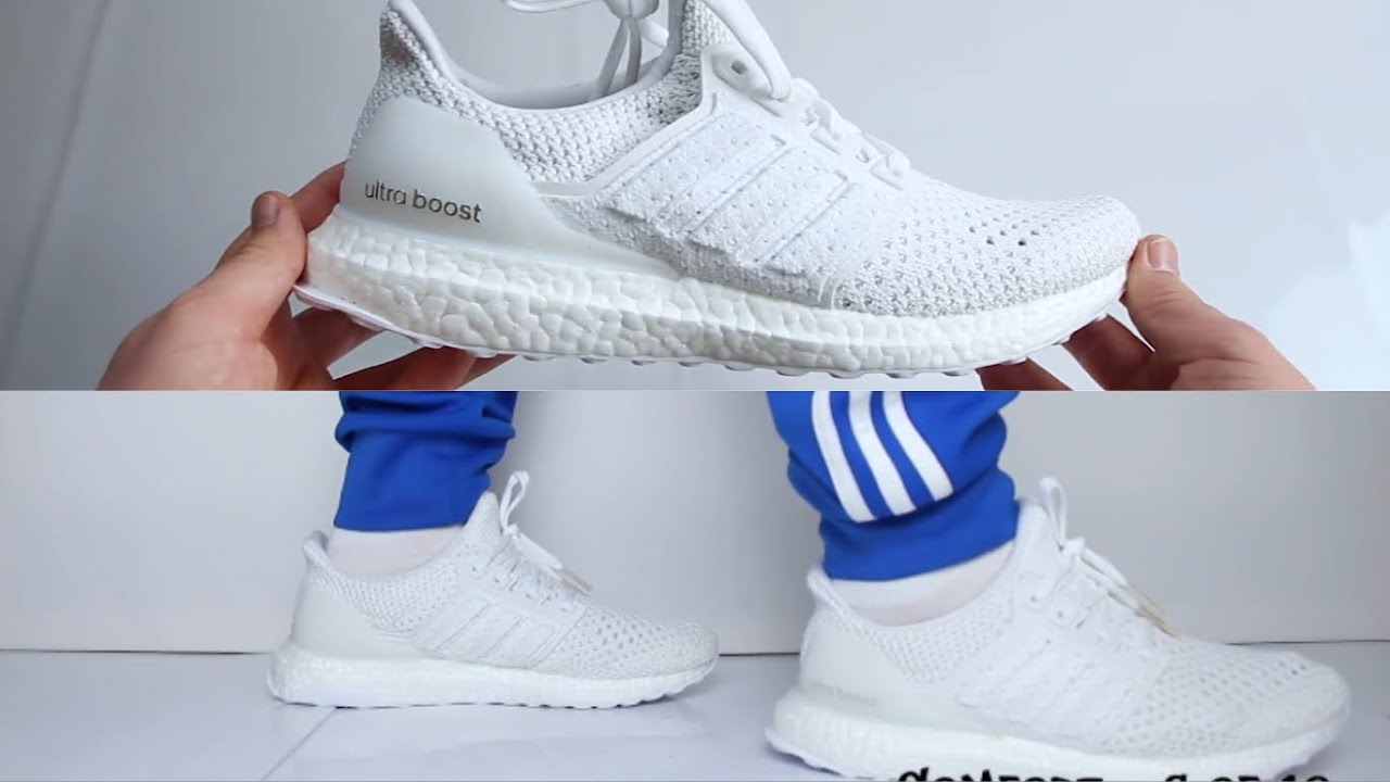ddc39aeb2486d Adidas Ultra Boost Clima  Triple White  UNBOXING   ON FEET - YouTube