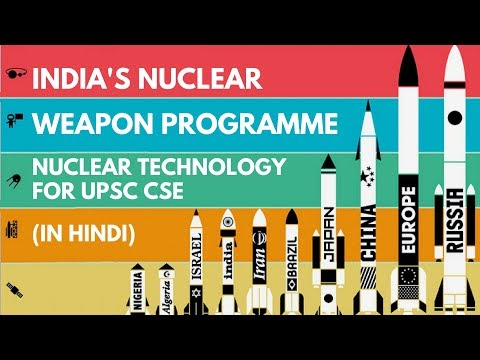 India's Nuclear Weapon Programme (in Hindi) - Nuclear Technology for UPSC CSE