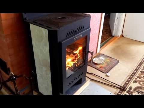 """Печь-камин """"Бранденбург"""" . Первый час горения ."""
