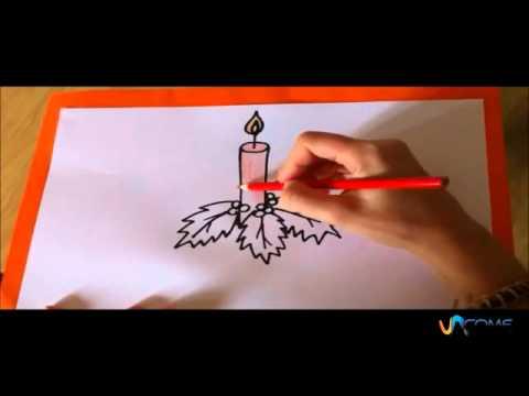 Disegnare Una Stella Di Natale.Disegnare Una Candela Di Natale