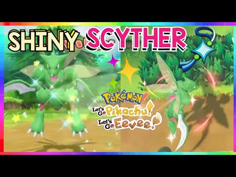 LIVE🔴 EXCLUSIVE SHINY SCYTHER HUNT in Pokemon Let's Go Pikachu and Eevee! 💚