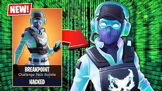 i hacked for the new breakpoint skin early fortnite battle royale