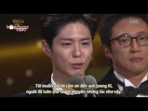 [Vietsub] 2016 KBS DRAMA AWARDS - TOP EXCELLENT ACTOR  PARK BO GUM