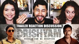 DRISHYAM | Ajay Devgn | Trailer Reaction | Jaby, Hope & Achara!