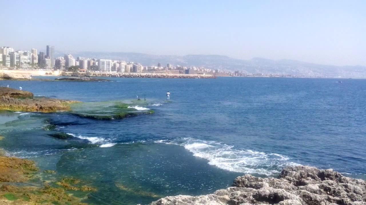 The Beautiful Beirut And Raouche Beach Lebanon