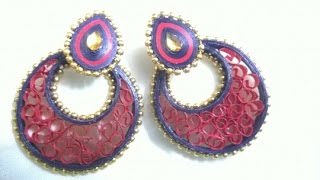 quilling earrings new designs making - quilling earrings