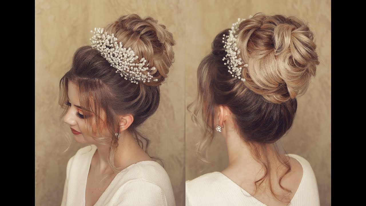 Wedding Hair Style Evening Hair Style Bridal Style Youtube