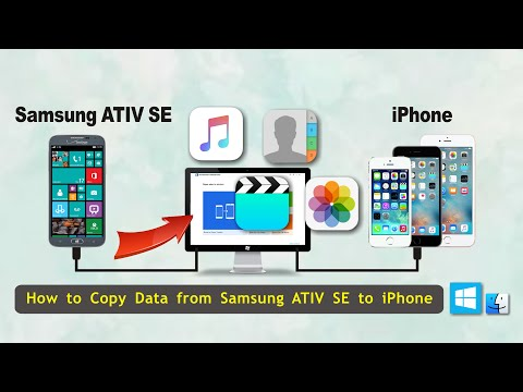 How to Copy Data from Samsung ATIV SE to iPhone, Sync ATIV SE with iPhone