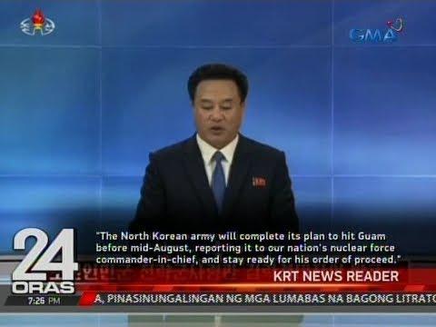 24 Oras: North Korea, idinetalye ang planong missile attack sa Guam na teritoryo ng Amerika