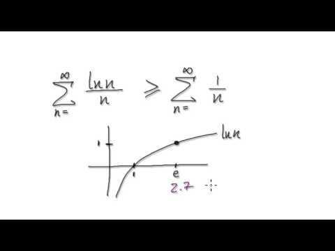 Video 2597 - Infinite Series Comparison Test - ln(n)/n - Example