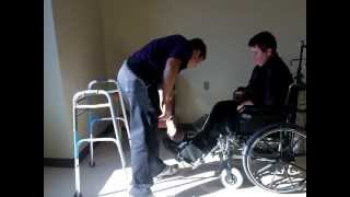Patient Transport: Leg Lift Wheelchair Patient