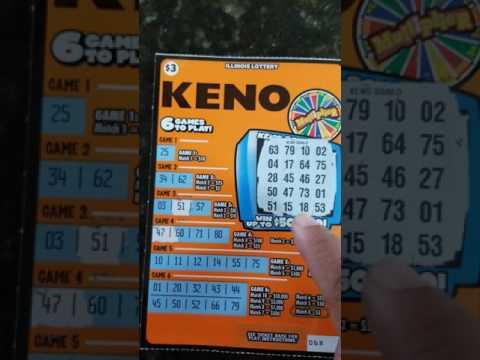 Keno Scratch Off Illinois Lottery 50k