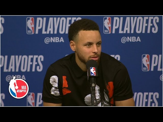 Curry after Warriors' Game 3 loss - I'll be thinking about this game tonight | 2019 NBA Playoffs