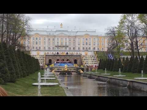 Официальное открытие фонтанов в Петергофе 20 05 2017