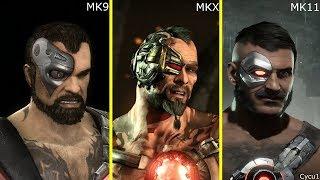 mortal Kombat 9 vs 10 vs 11 Returning Characters Model Comparison