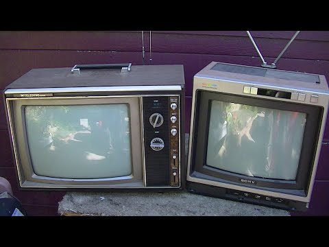 1973 Packard Bell NEC Hybird Color Television and Sony KV1222 Portable TV