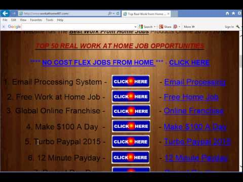 Review Top 10 real work at home jobs guide in 2016 How to make money online for free no fees