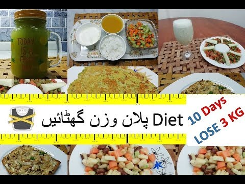 Loss 3KG in 10 Days –  Diet Plan by Guria | پلان وزن گھٹائيں  Diet