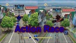 Sonic Adventure 2 (PS3) - VS Mode - Action Races