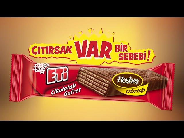 Eti Çikolatalı Gofret - Çıtırsak Var Bir Sebebi!