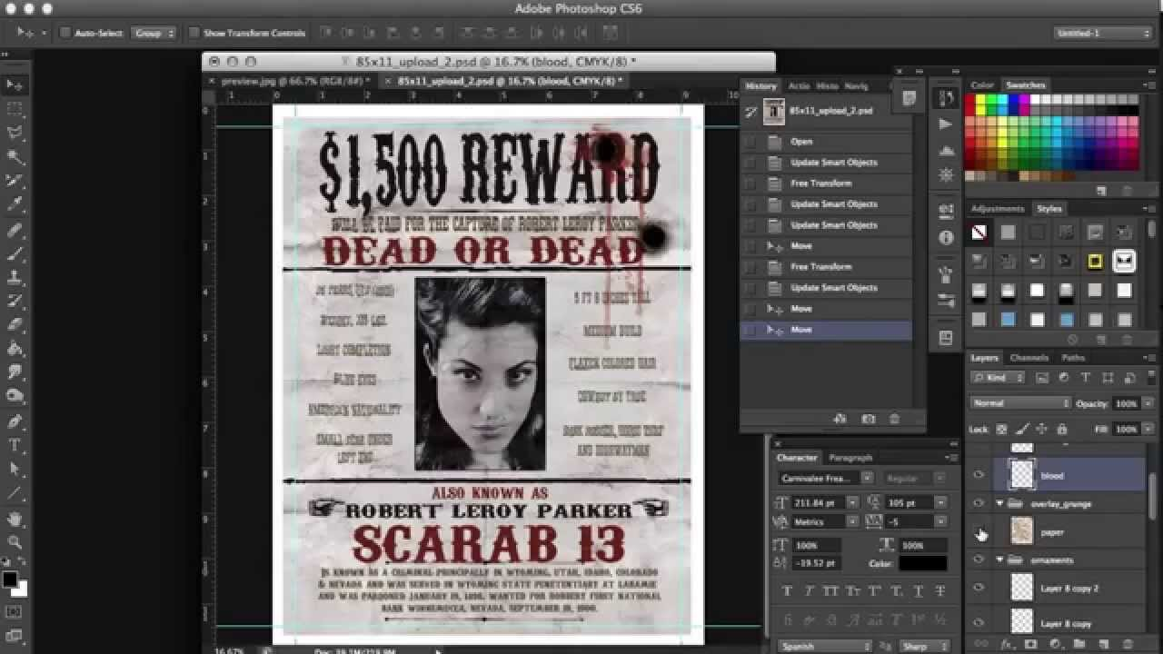 How To Make A Replica Of Original 1901 Wanted Poster Of Butch