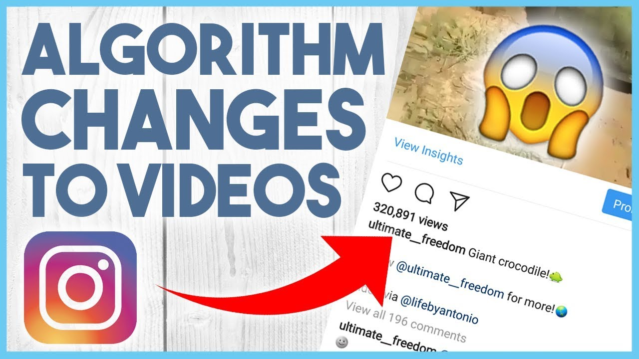 😉 NEW INSTAGRAM ALGORITHM CHANGE TO VIDEOS - FEBRUARY 2018 😉