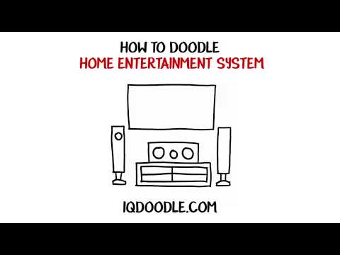 Haw to Draw a Home Entertainment System (drawing tips)