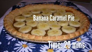 Banana Caramel Pie Recipe