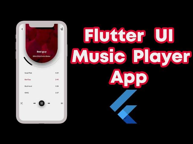 UI Design To Dart Code   Flutter UI   Music Player App
