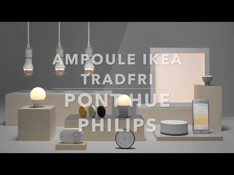 ikea ampoule tradfri sur pont hue philips youtube. Black Bedroom Furniture Sets. Home Design Ideas