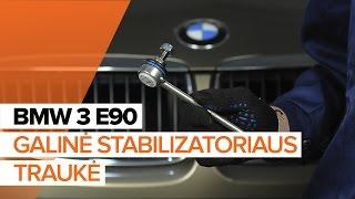 Kaip pakeisti galinė stabilizatoriaus traukė BMW 3 E90 PAMOKA | AUTODOC
