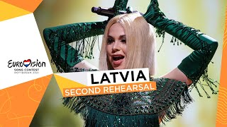 Samanta Tīna - The Moon Is Rising - Second Rehearsal - Latvia 🇱🇻 - Eurovision 2021