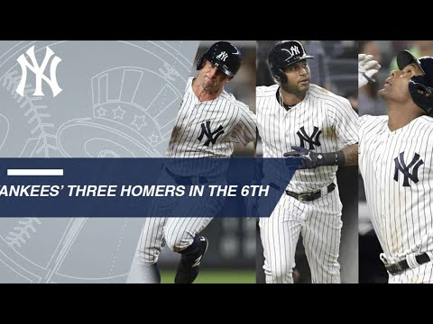 Yankees crush three home runs in the 6th inning