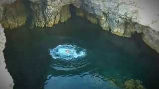 Cliff Jump at Dragonara Cave, Coral Lagoon, Ahrax Point, Malta