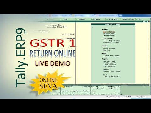 Filing of GST Return 1 from Tally ERP. 9 - LIVE Demo