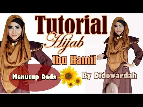 Tutorial Hijab Pashmina Ibu Hamil Menutup Dada by Didowardah #57