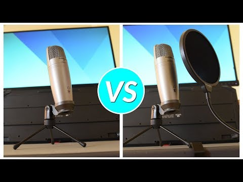 Pop Filter vs No Pop Filter Plosive Sound Test!