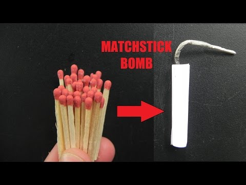 Awesome Way to make Fire Cracker from Matchsticks
