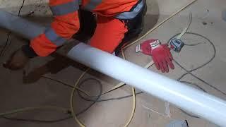 노끈을 이용하여 PVC배관 정확하게 자르는 방법