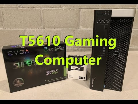 awesome precision t5610 gaming computer! nvme and gtx1080 graphics