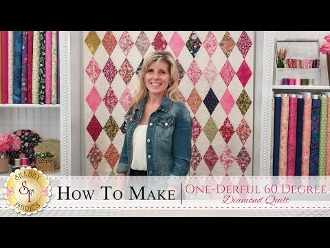 How to Make the One-Derful 60 Degree Diamond Quilt | a Shabby Fabrics Quilting Tutorial