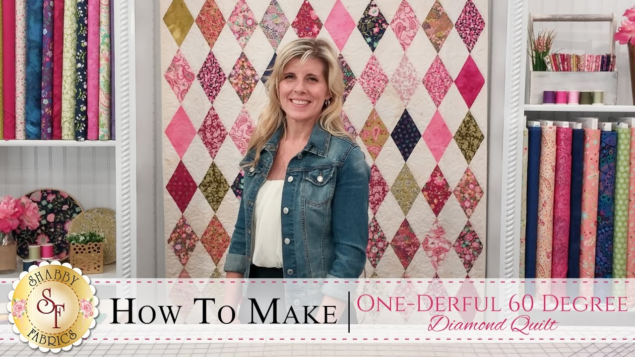 How to make the one derful 60 degree diamond quilt a shabby how to make the one derful 60 degree diamond quilt a shabby fabrics quilting tutorial pronofoot35fo Choice Image
