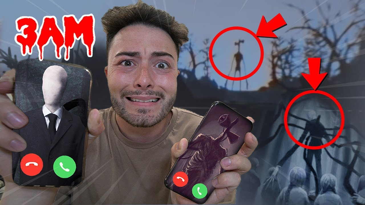 DO NOT FACETIME SIREN HEAD AND SLENDER MAN AT 3 AM!! *THEY FOUGHT*
