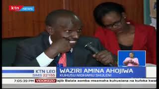 Waziri wa elimu Amina Mohammed ahojiwa na kamati ya bunge juu ya mikasa ya moto shuleni